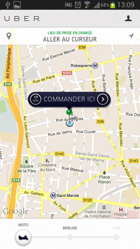 Map Uber