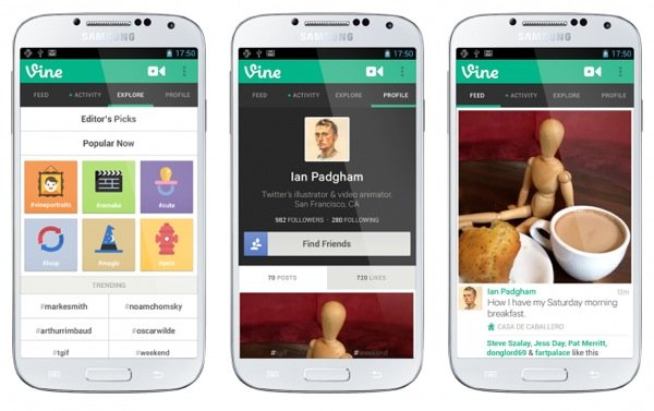 Vine disponible sur Android