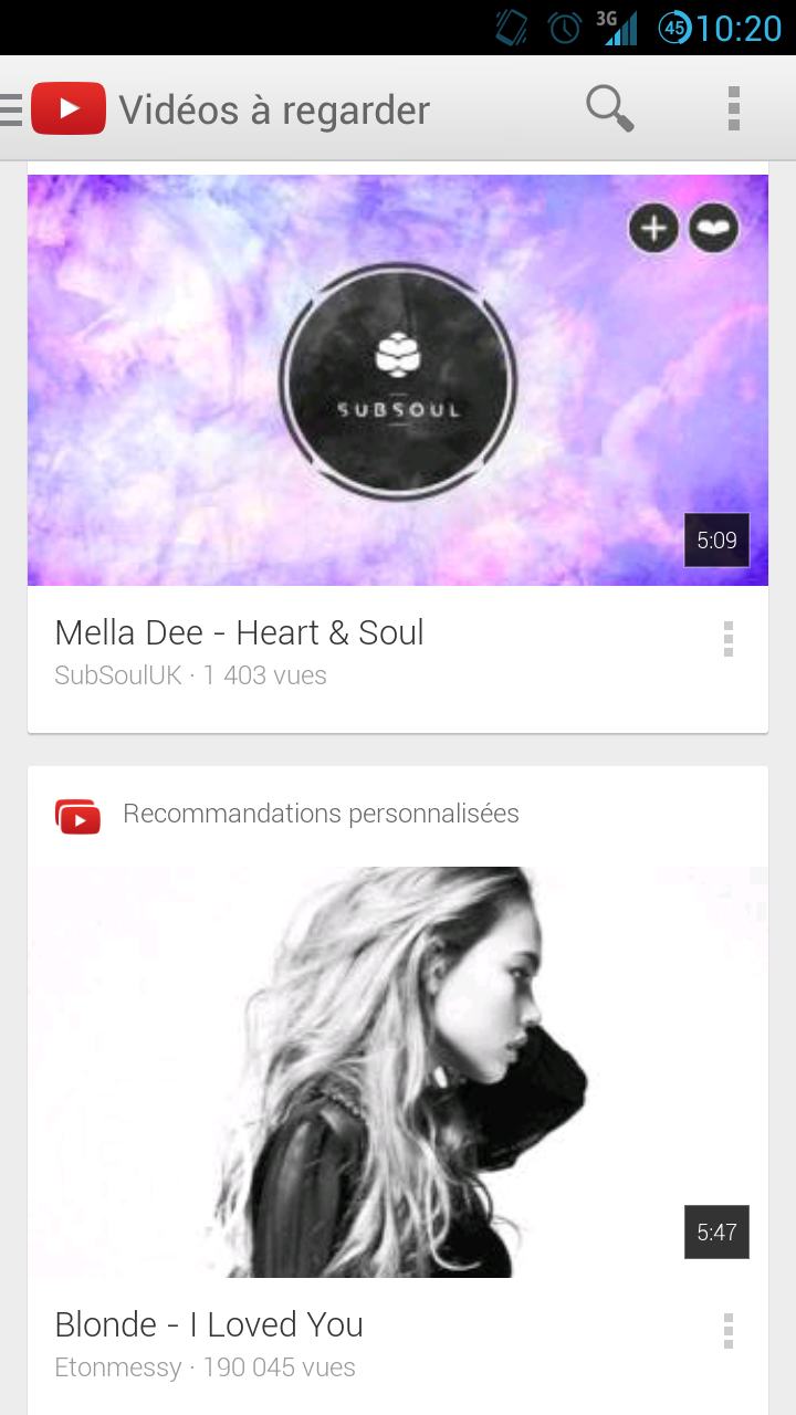 YouTube 5.0 disponible sur Android