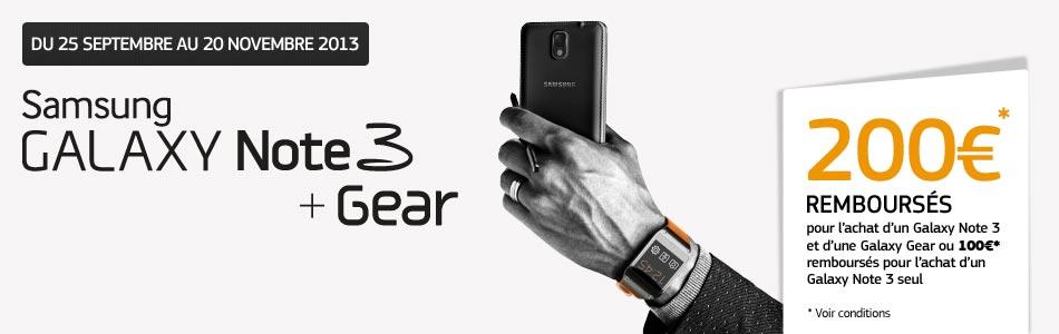 Remboursement Samsung Galaxy Gear Galaxy Note