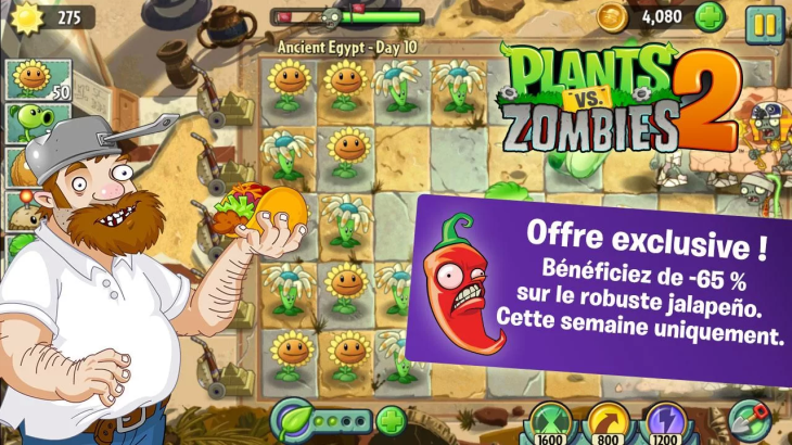 Plants vs. Zombies 2 enfin disponible en France sur Google Play !