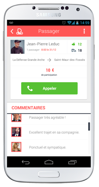 Miinute : l'application de covoiturage urbain