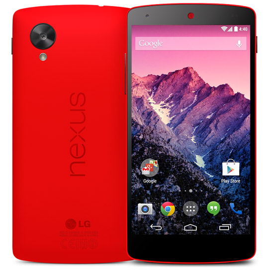 Google Nexus 5 : maintenant disponible en rouge vif !