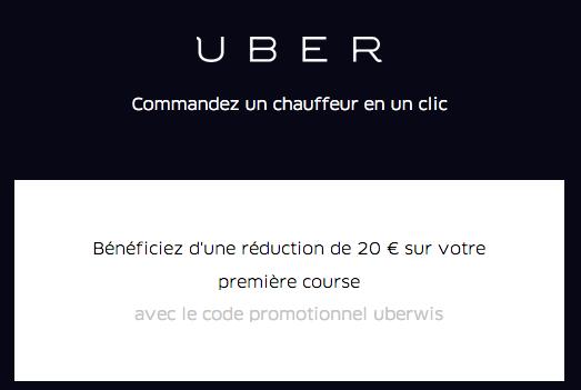 Uber : 10€ de crédits gratuits sur votre premier trajet !