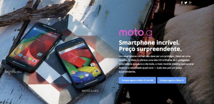Motorola : le Moto G 4G disponible au Brésil