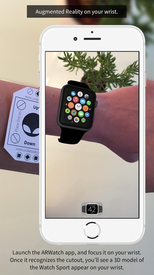 ARWatch : essayer l'Apple Watch en réalité augmentée sur Android