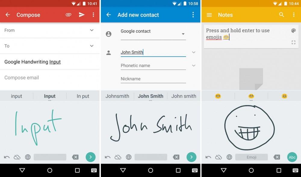 Google propose la reconnaissance d'écriture manuscrite sur Android