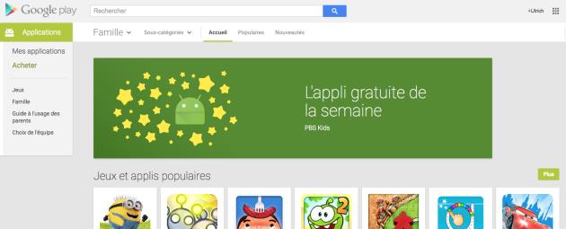 Google Play : nouvelle rubrique, «L'appli gratuite de la semaine»
