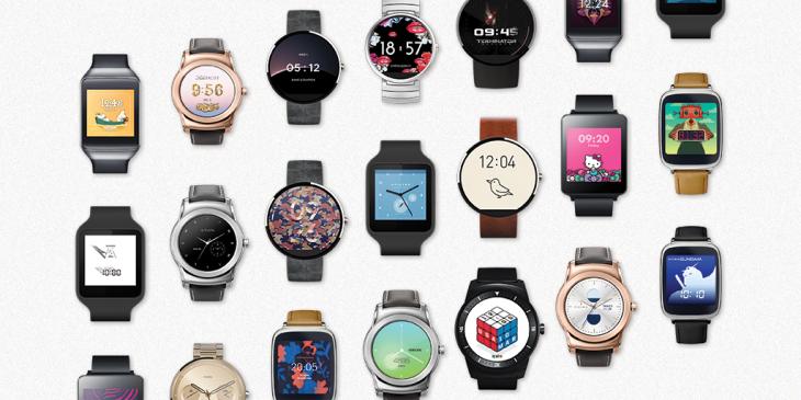 Google : 17 nouveaux cadrans pour les montres Android Wear