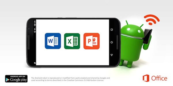 Microsoft-Office-Word-Excel-PowerPoint-apps-pour-Android