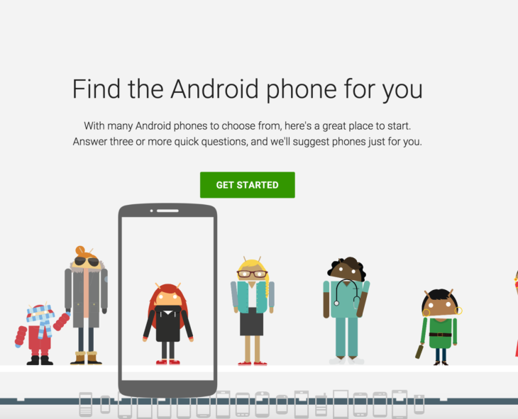 Google : un outil en ligne pour choisir son futur smartphone Android
