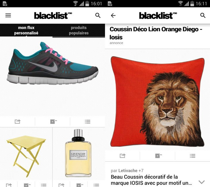 Blacklist.me : l'application des inspirations shopping personnalisées