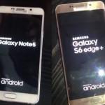 Samsung : nouvelles photos des Galaxy Note 5 & S6 Edge+ ?