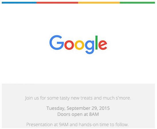 Google annonce un événement pour le 29 septembre 2015