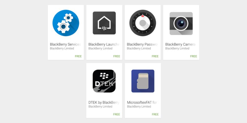 BlackBerry Priv : les applications disponibles sur le Google Play