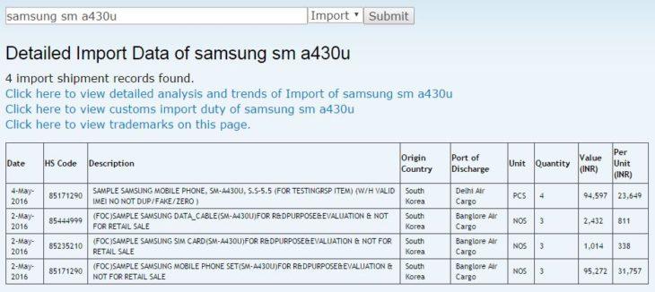 Samsung : un Galaxy A4 (2016) en préparation ?