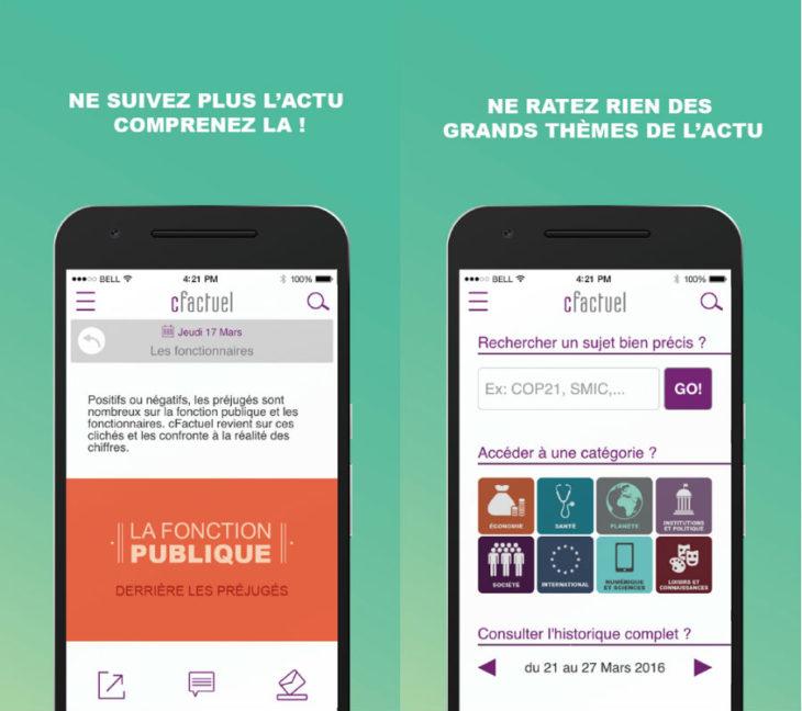 cFactuel : l'actualité vue autrement sur Android