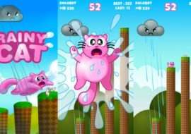 Rainy Cat : un die and retry sur Android idéal pour la plage